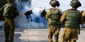 حالات اختناق بالغاز إثر مواجهات مع الاحتلال في سبسطية