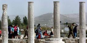 مستوطنون يقتحمون الموقع الأثري في سبسطية