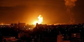 سلسلة غارات على قطاع غزة