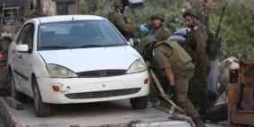 الاحتلال يصادر مركبة غرب رام الله للبحث عن منفذي عملية عين بويين
