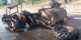 وفاة مواطن بحادث انقلاب جرار زراعي