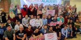 """غزة سكاي جيكس وميرسي كوربس تختتم مشروع """"العمل الحر"""" الممول من المشروبات الوطنية"""