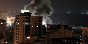 طائرات الاحتلال تقصف عددا من المواقع في غزة