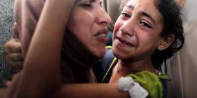 غزة تودع الشهيدين الطفلين الربعي والأشقر