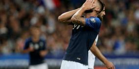 أخطاء محرجة في مباراة فرنسا وألبانيا
