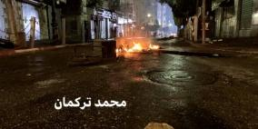 إصابات بالرصاص المطاطي بمواجهات مع الاحتلال وسط رام الله