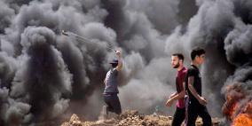 (محدث1).. إصابة 74 متظاهر ومسعفين شرق القطاع