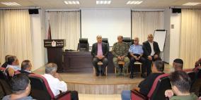 محافظ نابلس يدعو الجميع للتعاون لوقف إطلاق النار في المناسبات