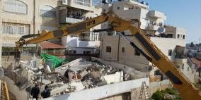 الاحتلال يهدم منزلا في القدس ويعتقل مالكه
