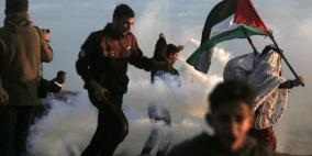 """(محدث 3) شهيد و63 جريح في جمعة """" الأقصى والأسرى"""" شرق غزة"""