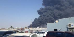 نشوب حريق كبير في محطة قطار الحرمين السريع