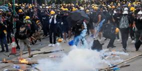 تعليق وسائل النقل العام في هونغ كونغ بسبب الاشتباكات