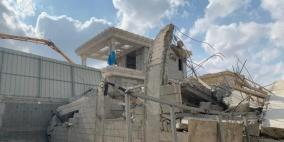 الجرافات الإسرائيلية تهدم منزلا في اللد للمرة الثانية