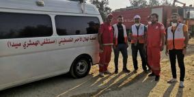 الهلال الأحمر الفلسطيني في مخيمات لبنان يساعدون في عمليات الإغاثة من الحرائق