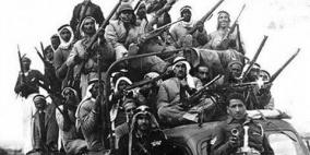 رجال الثورة الفلسطينية عام(1938م) عندما سيطروا على مدينة القدس وقاموا بطرد الشرطة البريطانية