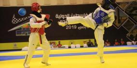 الإثارة تغلف اليوم الثاني من منافسات بطولة فلسطين الدولية الرابعة للتايكواندو