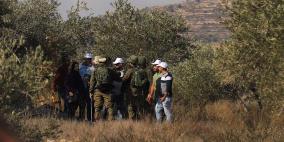 جيش الاحتلال يطرد المزارعين بعد منعهم من قطف الزيتون في نابلس