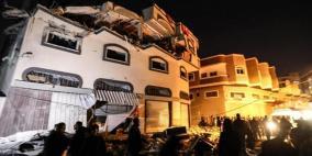 حصيلة العدوان  الاسرائيلي على  قطاع غزة منذ الفجر