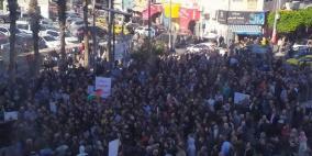 تجمهر المئات وسط رام الله للمطالبة بإطلاق سراح عز الدين البرغوثي