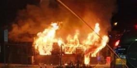 إحراق محل تجاري خلال أحداث عنف في رهط