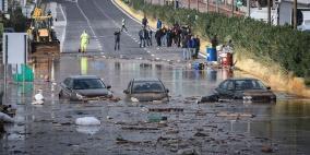 3 قتلى بعاصفة ضربت اليونان وتسببت بفيضانات وانهيارات