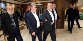 حماس والجهاد تعقدان اجتماعًا هامًا بالقاهرة بحضور هنية والنخالة