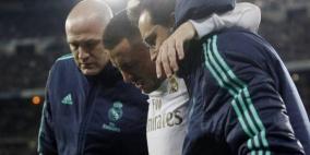 ظهور هازارد بعكازين يثير القلق في ريال مدريد قبل الكلاسيكو