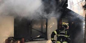 إصابة خطيرة إثر حريق منزل بشعفاط