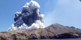 بركان نيوزلندا.. غواصون يبحثون عن ضحايا في مياه ملوثة