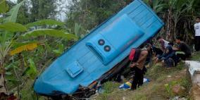 مقتل 24 شخصا إثر تدهور حافلة في اندونيسيا