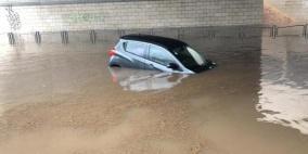 غرق 5 أشخاص وفيضانات بشوارع ومنازل في يافا وتل أبيب