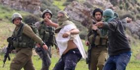 إصابة مواطنين في اعتداء للمستوطنين جنوب نابلس