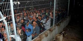 اصابة العشرات.. الاحتلال يطارد العمال شمال طولكرم