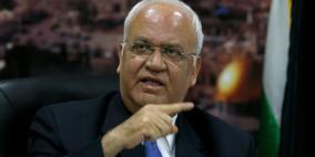 عريقات يحذر من عواقب قرار ضم أراض فلسطينية
