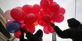 قرار بوقف إطلاق البالونات الحارقة والمتفجرة من غزة