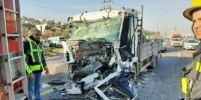 إصابتان أحداهما خطيرة في حادث سير بوادي عارة