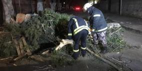 6 إصابات وحريق مستودع ومنزل  منذ بداية المنخفض في الضفة