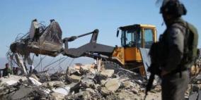 الاحتلال يهدم منزلين قيد الإنشاء في رمانة غرب جنين