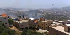 إخلاء منازل إثر نشوب حريق في المغار
