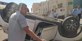 إصابة مواطنين في انقلاب مركبة ببيت لحم