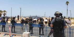 إصابات واعتقالات بيافا رغم قرار وقف تجريف مقبرة الإسعاف