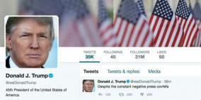 تويتر يضع علامة على تغريدة جديدة لترامب لانتهاكها سياساته