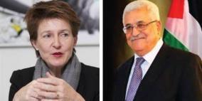 أكدت رفضها لأية أعمال أحادية.. الرئيس يتلقى اتصالا من رئيسة سويسرا