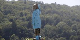 إحراق تمثال لميلانيا ترامب في مسقط رأسها سلوفينيا