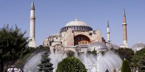 """أردوغان:""""إعادة إحياء آيا صوفيا بشارة نحو عودة الحرية للمسجد الأقصى"""""""