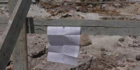اخطارات بوقف بناء 15 منزلا في سلفيت