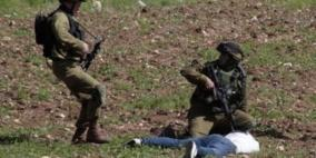 إصابة عامل أثناء مطاردته من قبل الاحتلال غرب جنين