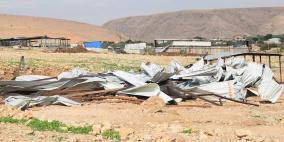 اخطارات بهدم 4 مساكن شرق يطا