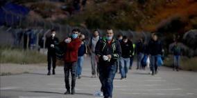 38 ألف عامل فلسطيني دخلوا الخط الأخضر اليوم