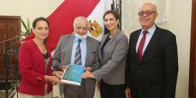 وفد من المجلس الأعلى للابداع والتميز يزورالسفارة المصريةلدى دولة فلسطين